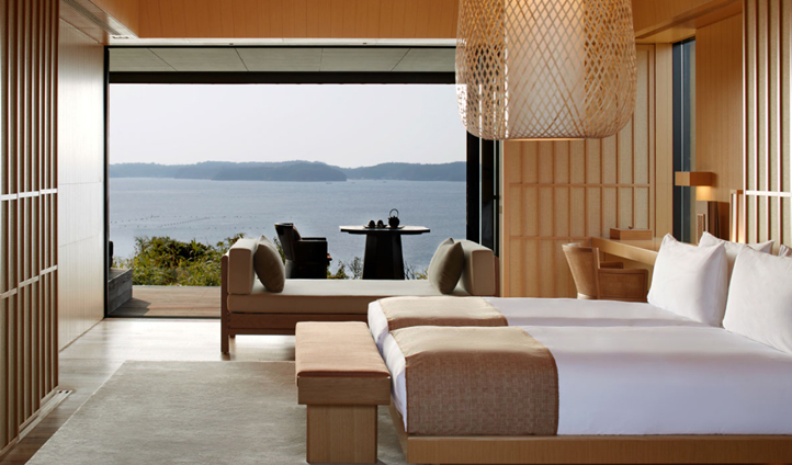 Enjoy sea views from a Nagi Suite