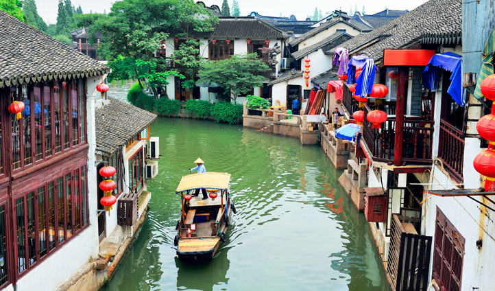 The water town of Zhujiajiao is a real change of pace from buzzy Shanghai