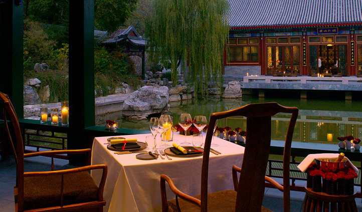 Dine beside the lotus ponds