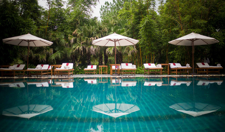 Take a dip in the refreshing pool at Ananda