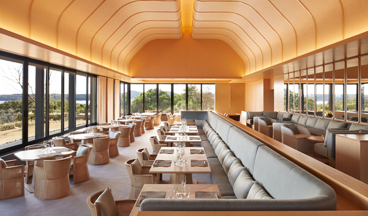 Dine at the Japanese Restaurant with panoramic views across Ago Bay