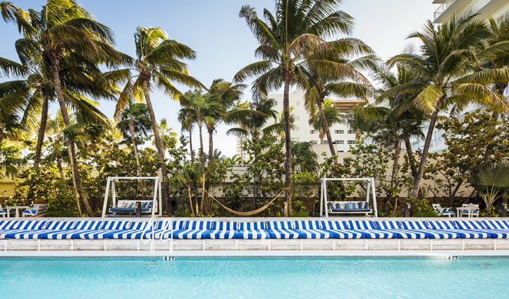Recline and unwind at one of Soho Beach House's pools