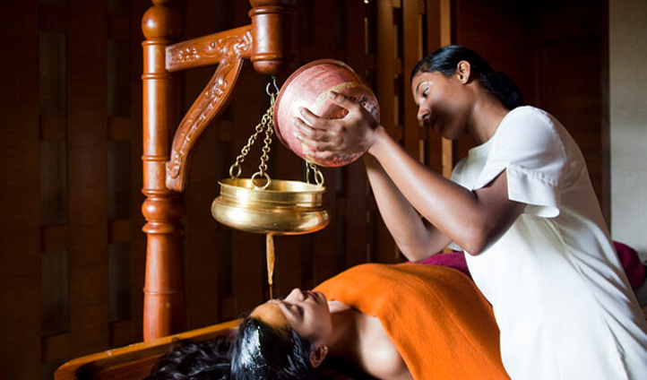 Experience Ayurvedic treatments such as Shirodhara