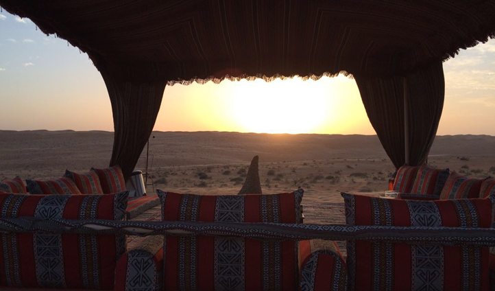 Enjoy breathtaking sunsets over the dunes