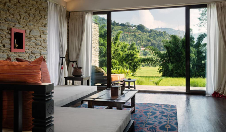 Enjoy the naturally beautiful landscapes from your private villa
