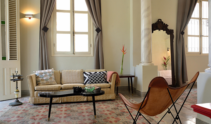 Enjoy classic interiors in the Malecon Suite