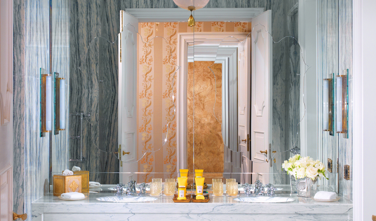 Decadent marble bathrooms