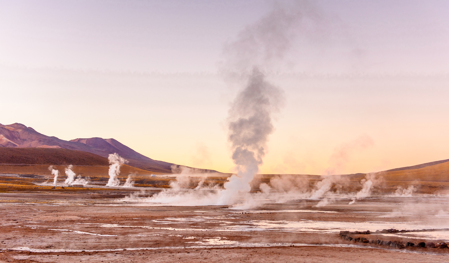 Watch in wonder as the El Gatio Geysers erupt around you
