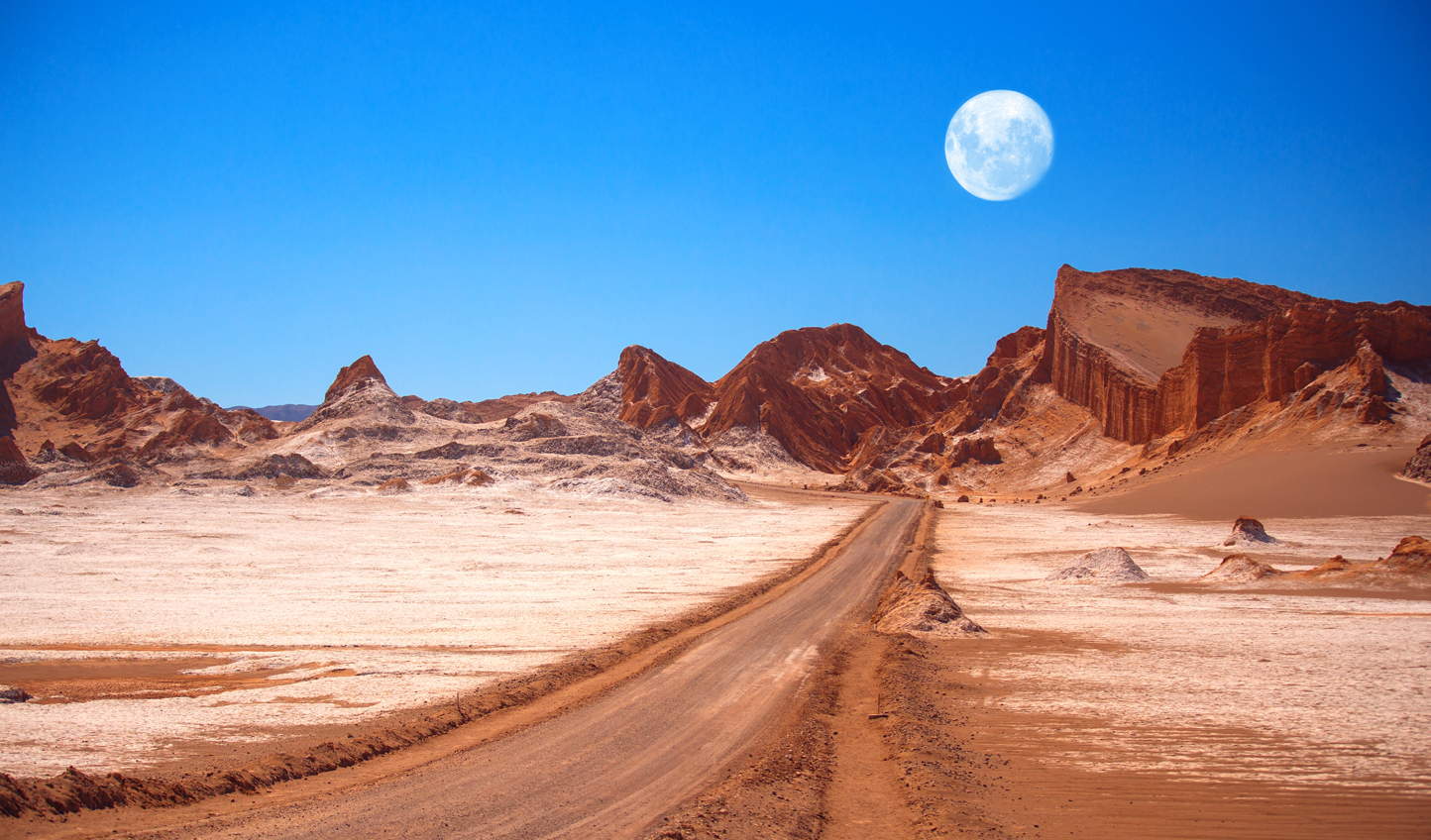 Drive into the otherworldly landscapes of Moon Valley