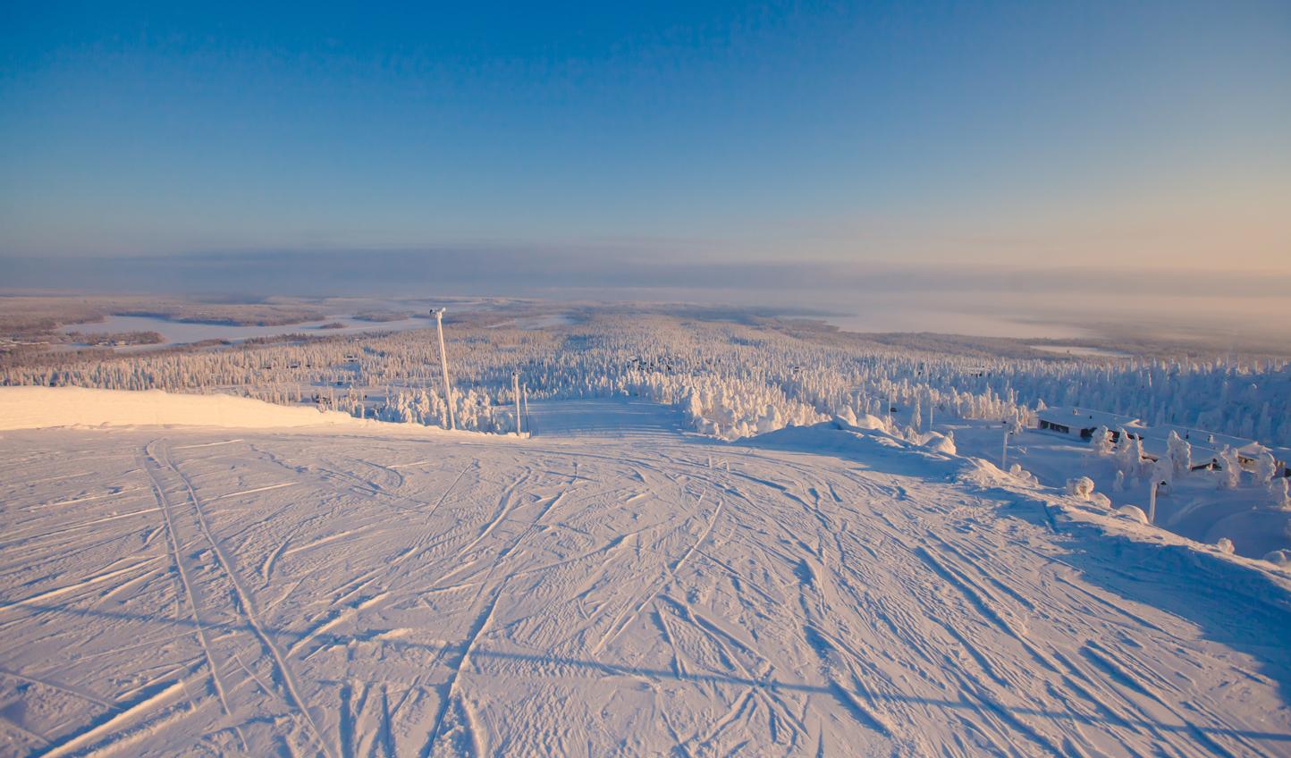 Expansive snowy landscapes await you