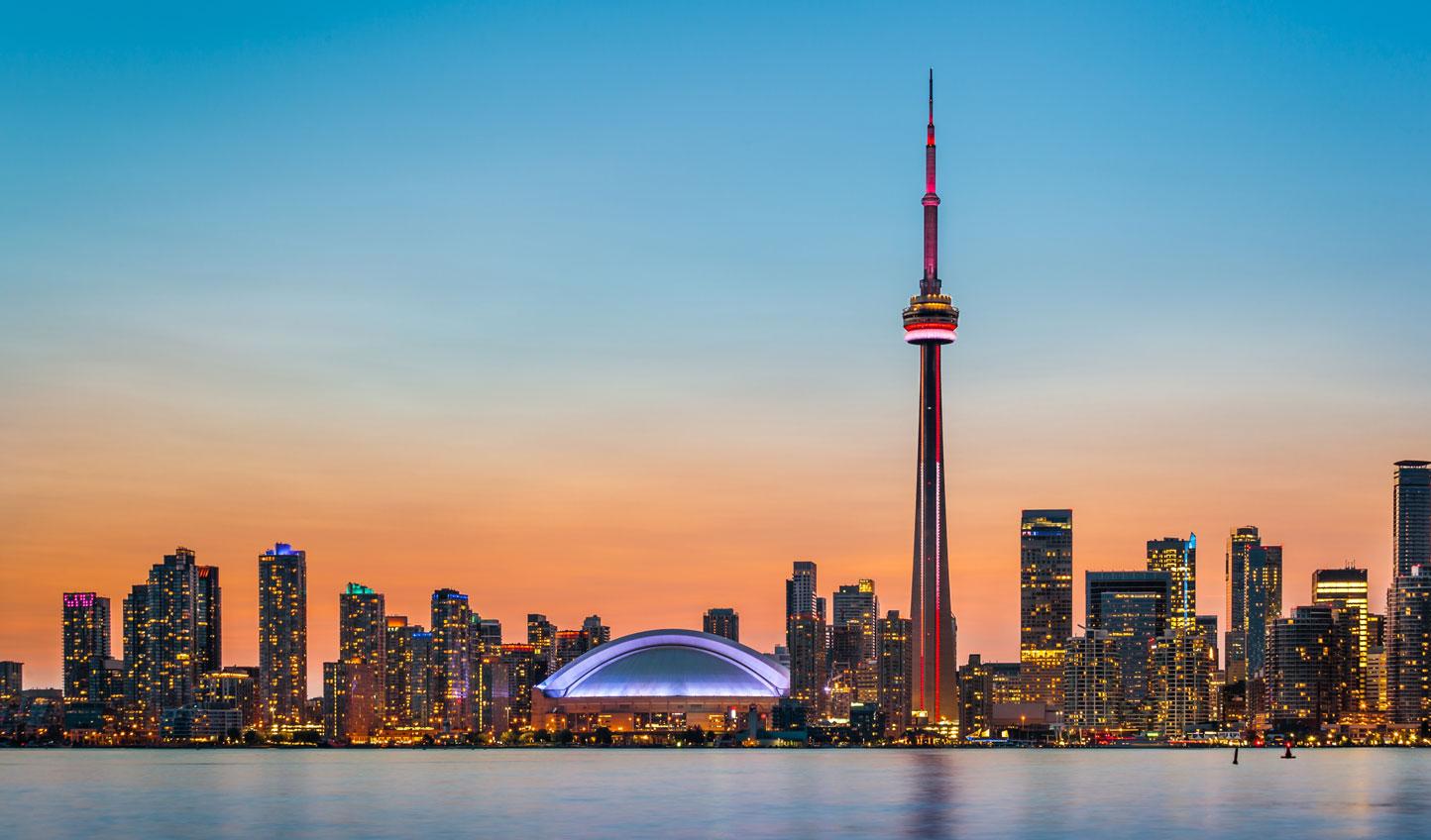 Witness the majesty of Toronto's skyline at night