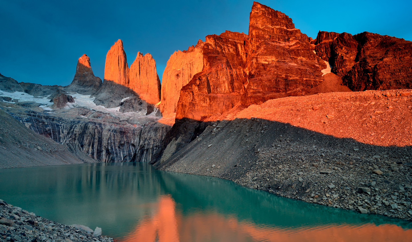 The breathtaking beauty of Torres del Paine at sunset