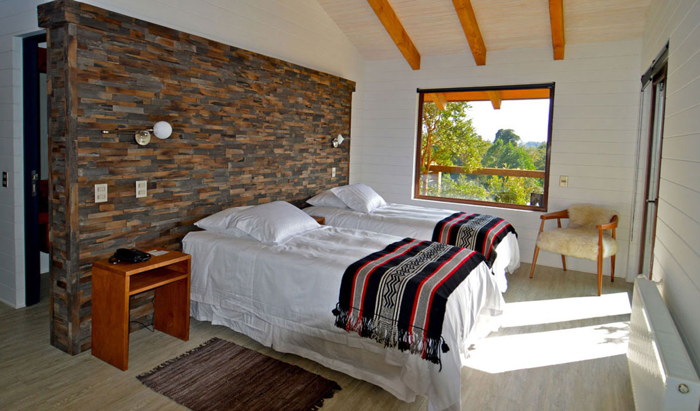 Traditional influences adorn the bedrooms
