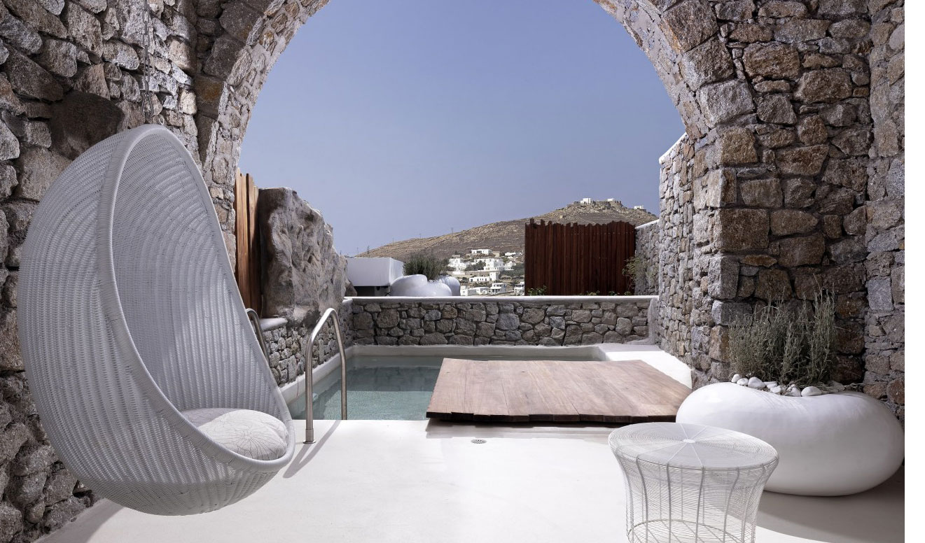 View of room with private pool