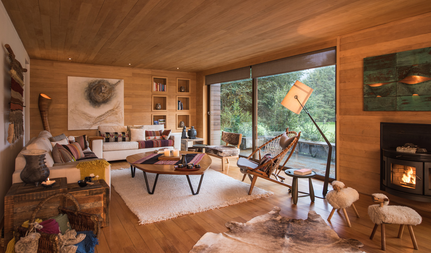Natural materials give you a sense of place in the Chilean Lake District