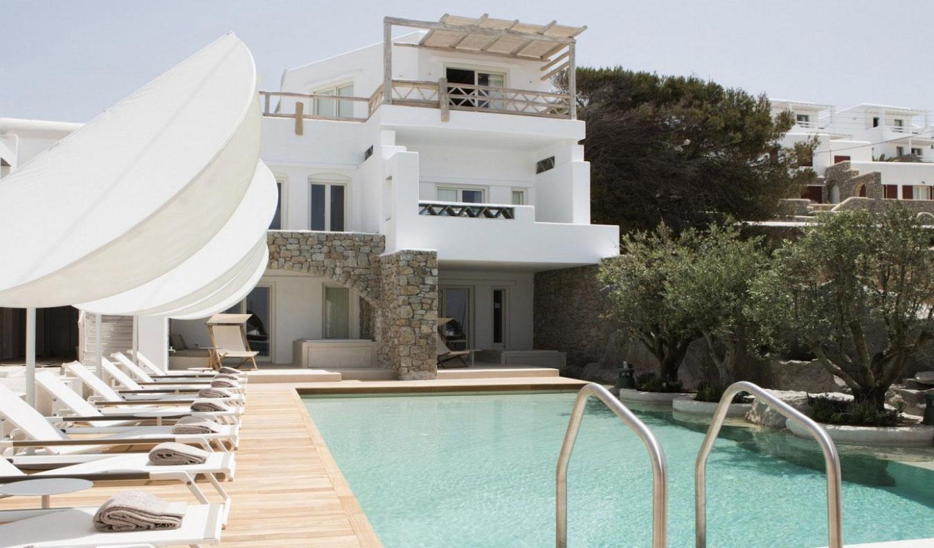 View of luxury pool