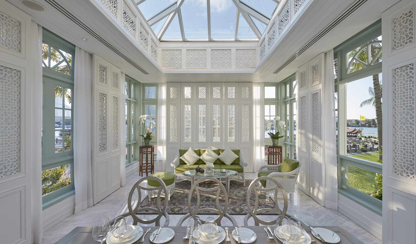 Enjoy beautiful river views from your private Victorian-style conservatory