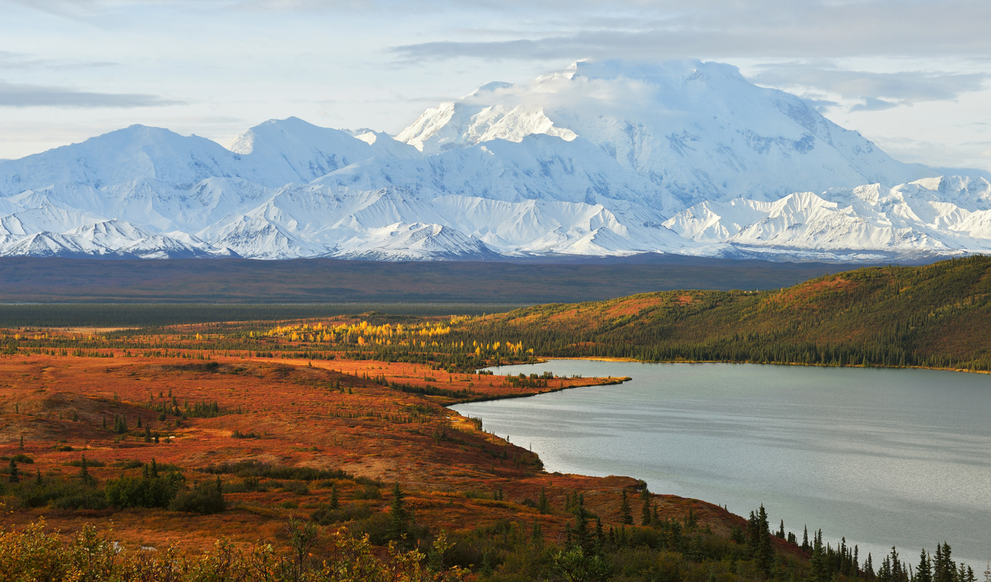 The impressive sight of Mt. McKinley is unavoidable