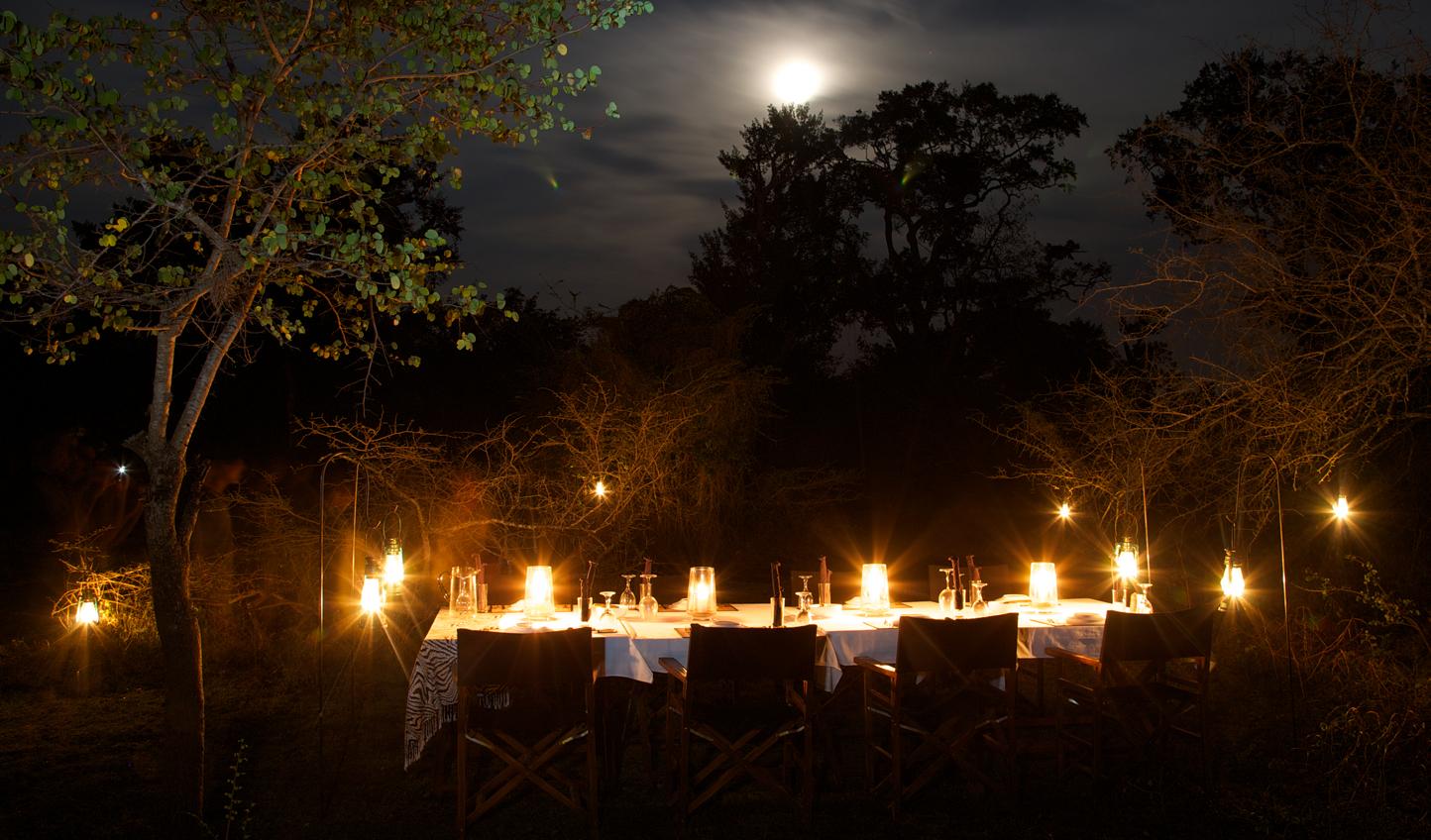 Enjoy candlelit dinners