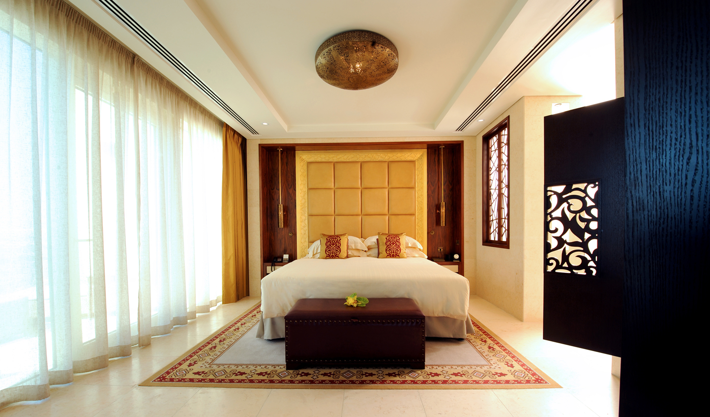 Relax in your spacious suite, decorated with Middle Eastern accents