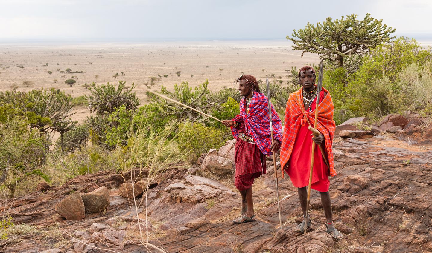 The Maasai Mara people exploring the region