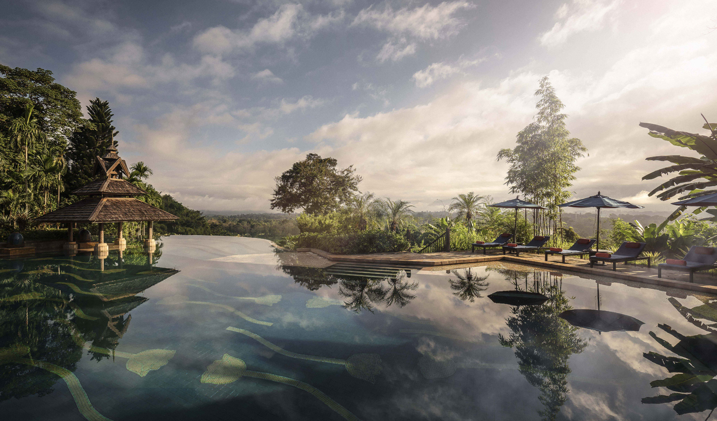 Drink in the views from the infinity pool
