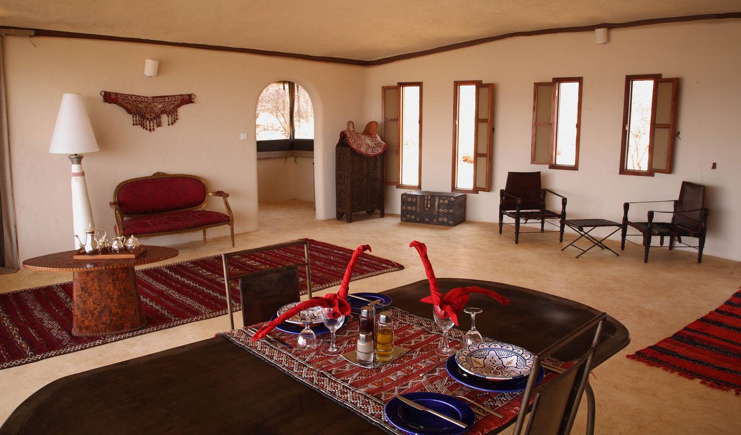 Interior of the single villa