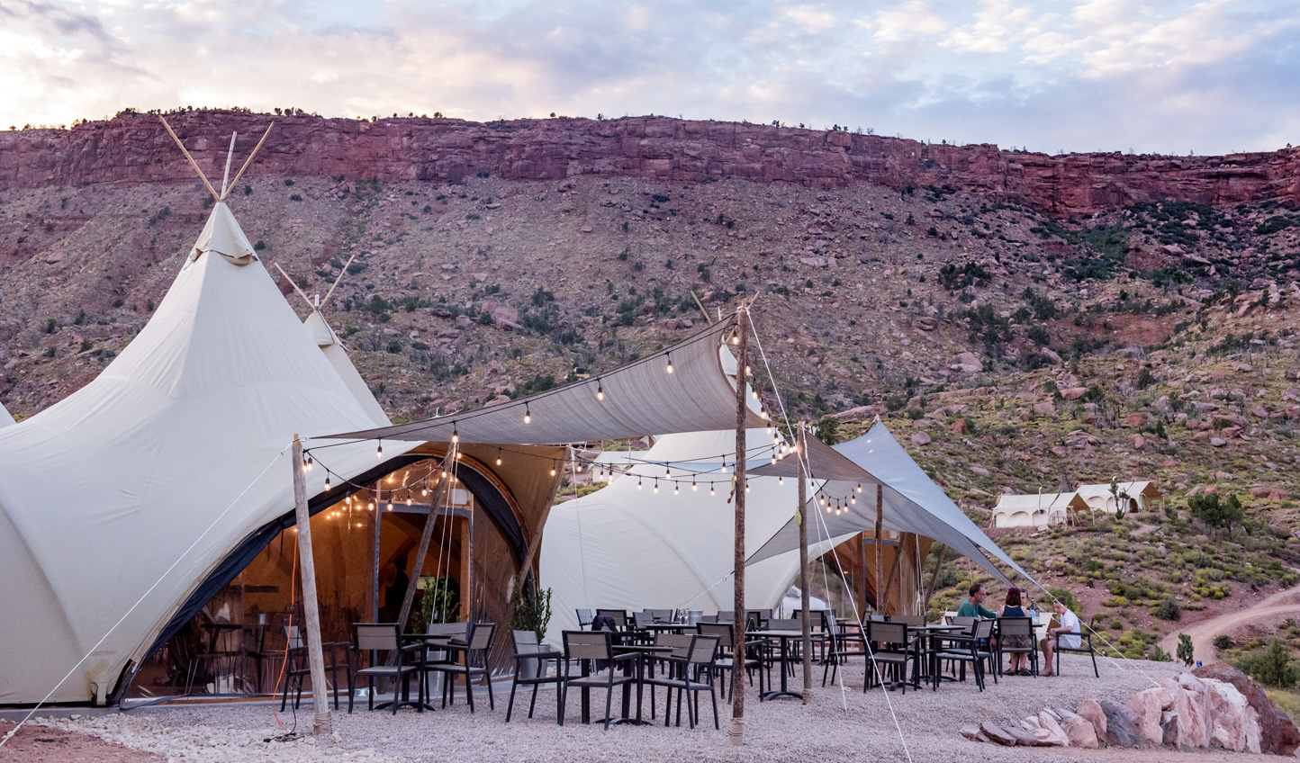 Dine out in the wilderness at Under Canvas