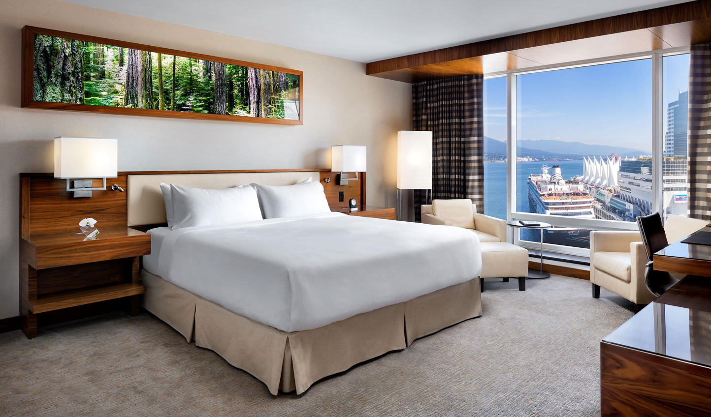 Wake up to views over Vancouver harbour at Fairmont Pacific Rim