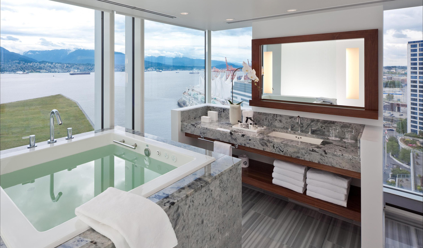 Sink into a sumptuous bathtub
