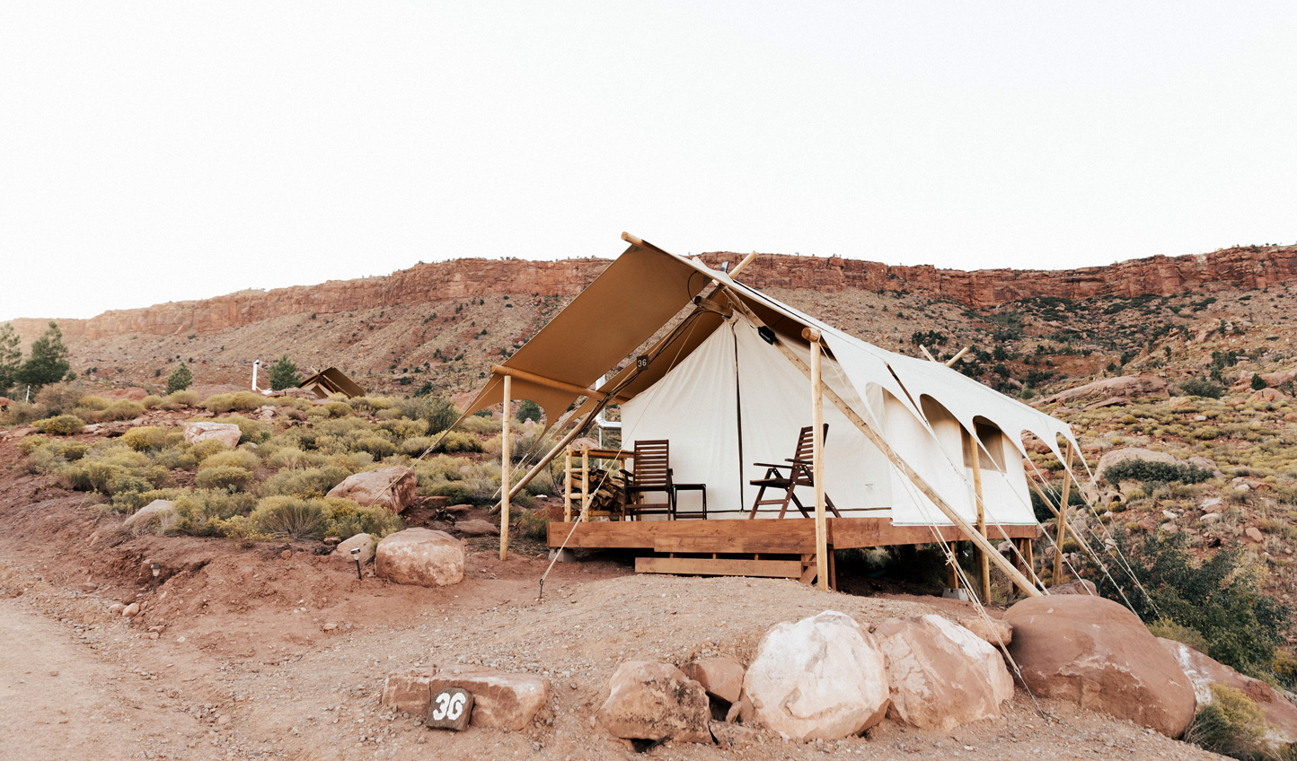 Sleep beneath the stars in your luxury tent at Under Canvas