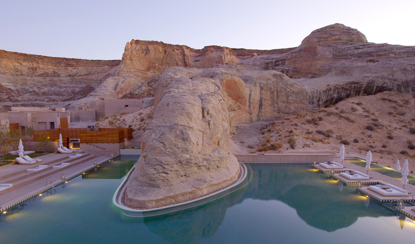 Relax by the gorgeous freeform pool at Amangiri