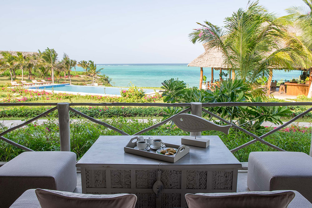 Stunning views from your breakfast table at Zawadi Hotel