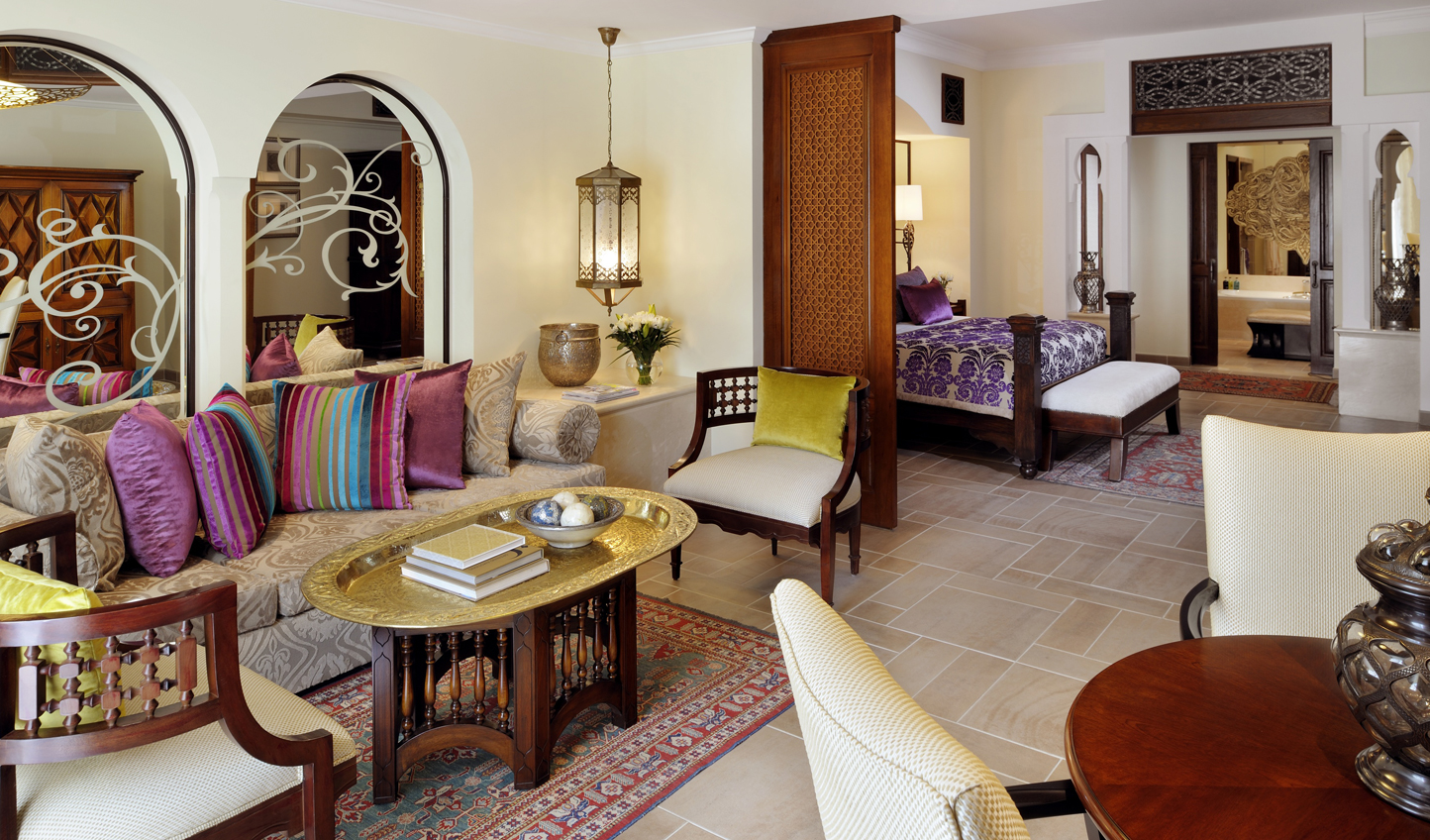 Rich and intricate furnishings reflect the warmth of the Orient