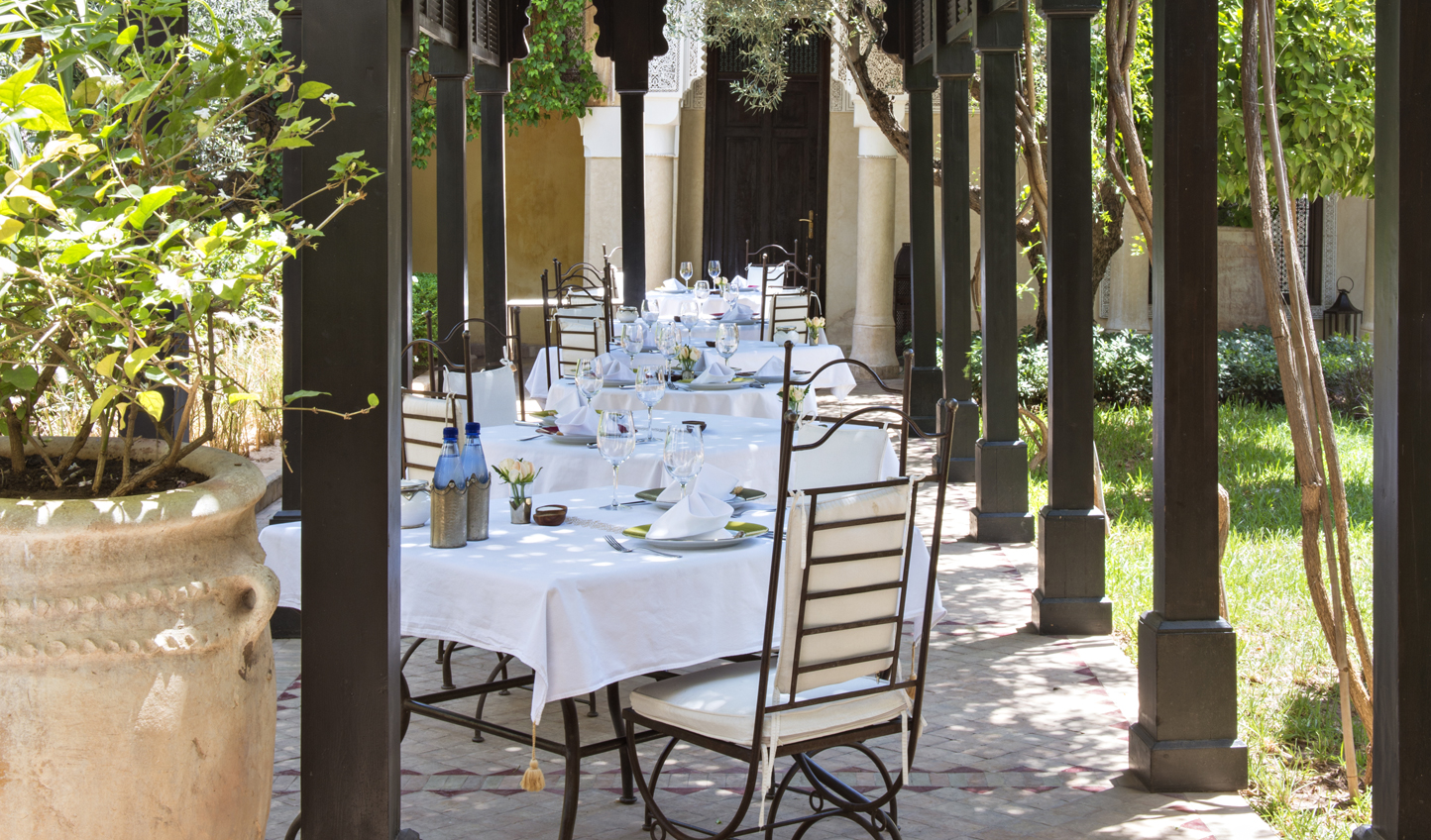 Start the day with breakfast beneath the pergola