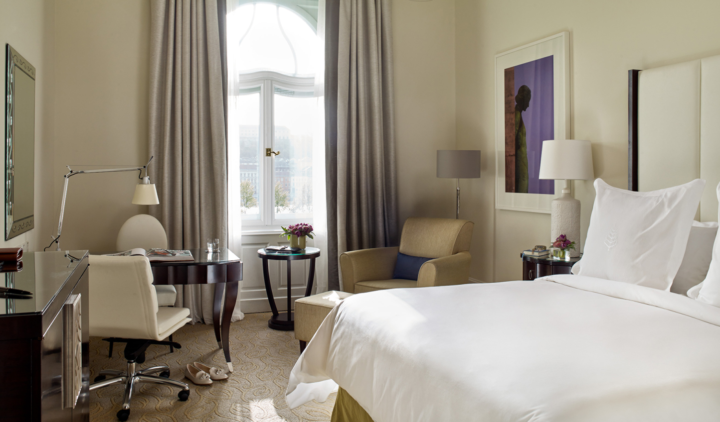 Glistening views of the River Danube from your room