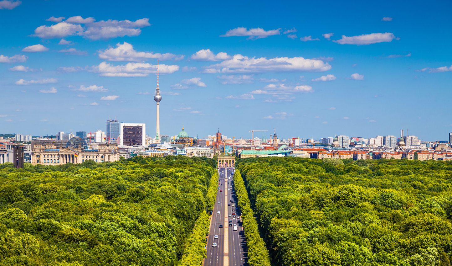 Enjoy incredible views of the Berlin skyline from the leafy surrounds of the Tiergarten