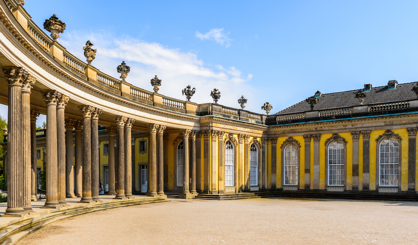 Stroll through the Rococo architecture of Schloss Sanssouci