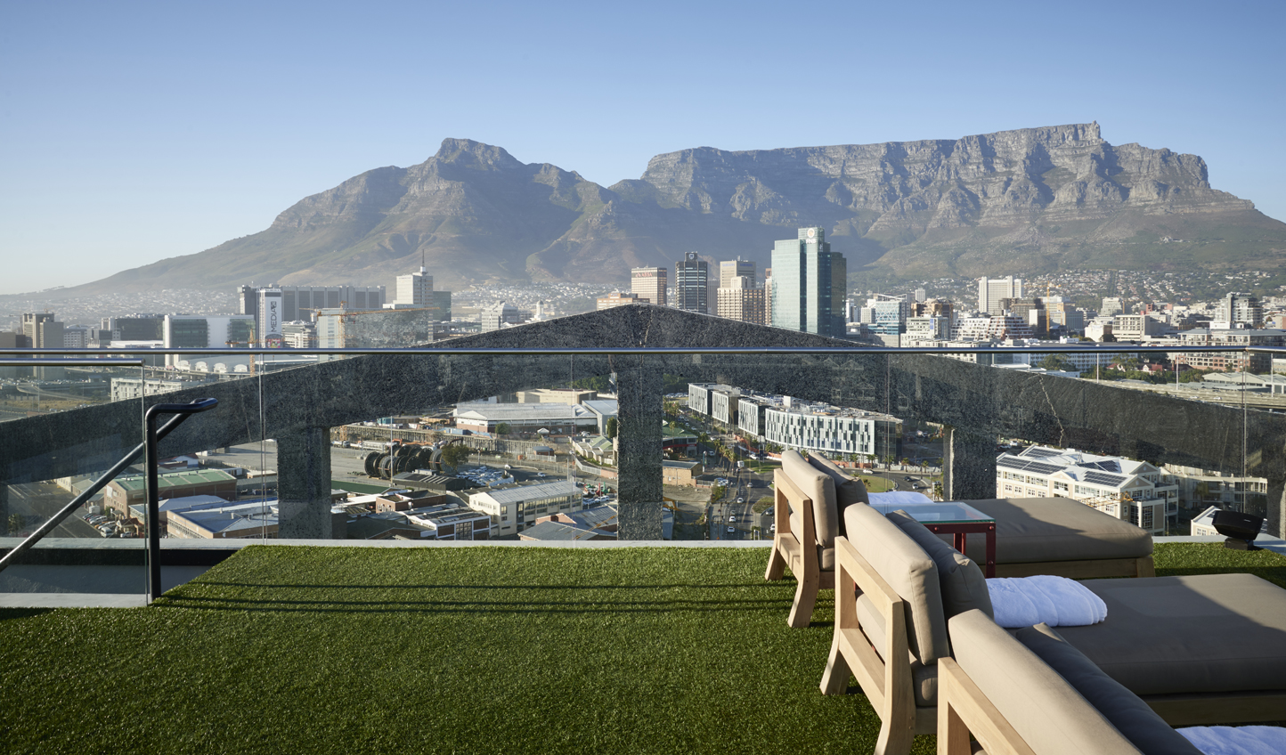 Head up to the roof for panoramic views over Table Mountain