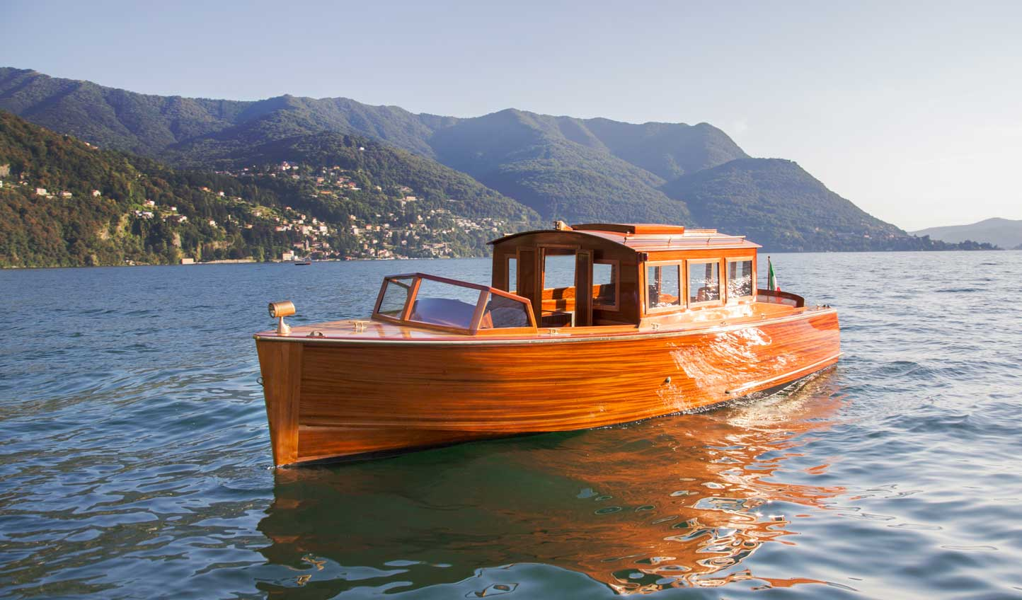 Take to the water on a custombuilt Riva boat