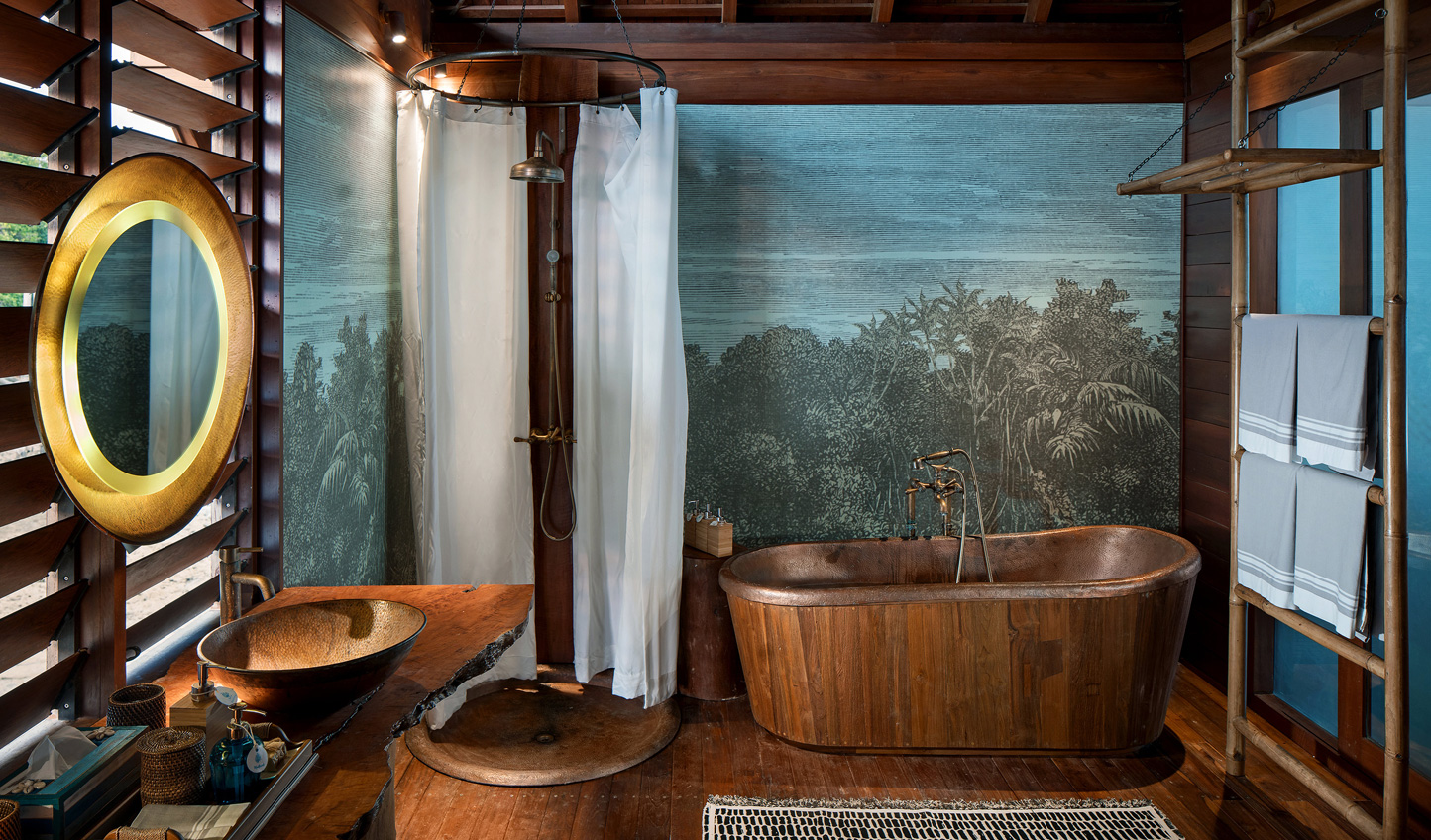 Luxurious bathrooms with a touch of the golden-age of exploration