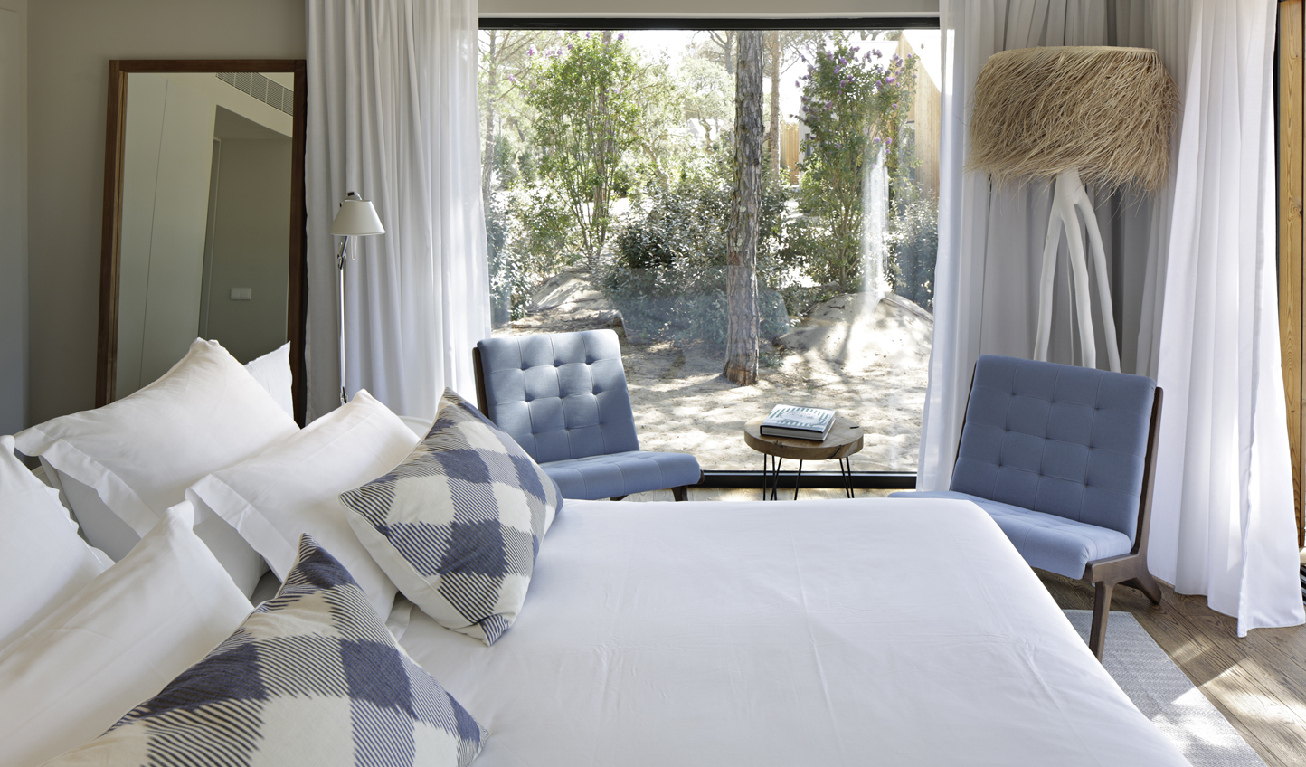 Wake up to views over the tranquil gardens