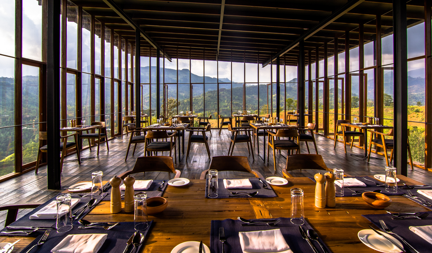 Float on air in the stunning glassbox restaurant