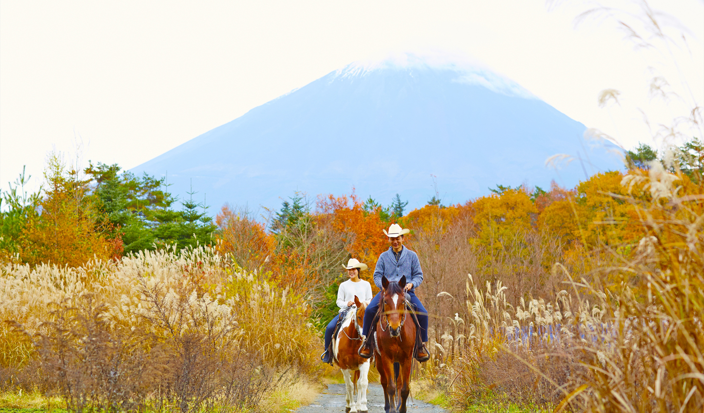 Saddle up and ride through the foothills of Mt. Fuji