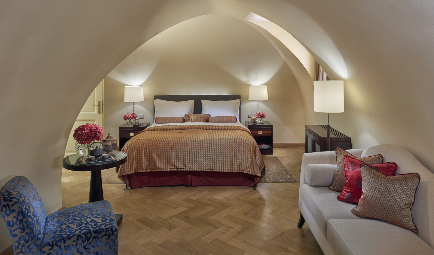 Unique design and vaulted ceilings remind you of the monastic past