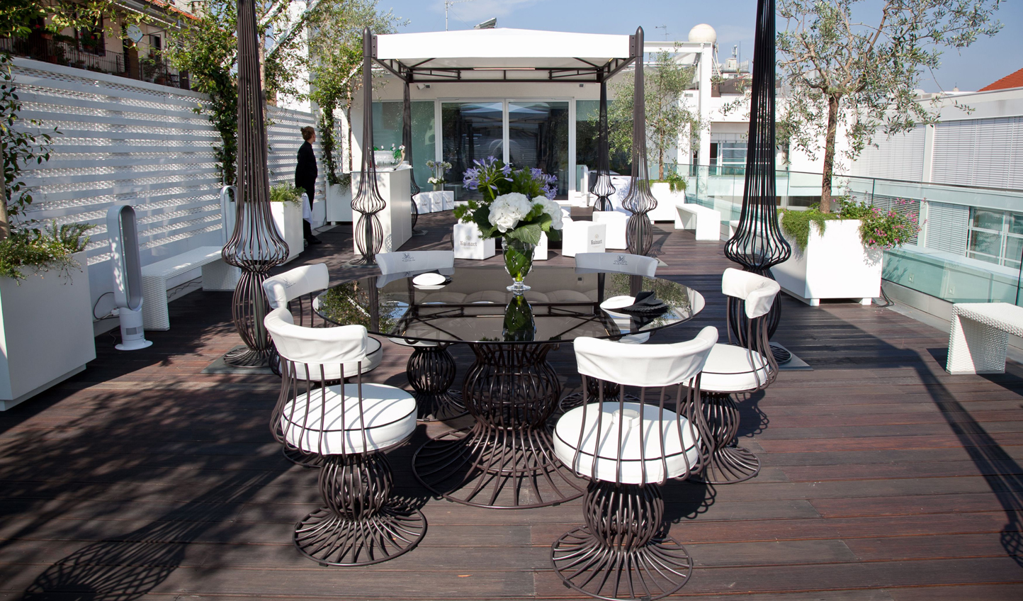 Enjoy an aperitivo up on the roofdeck