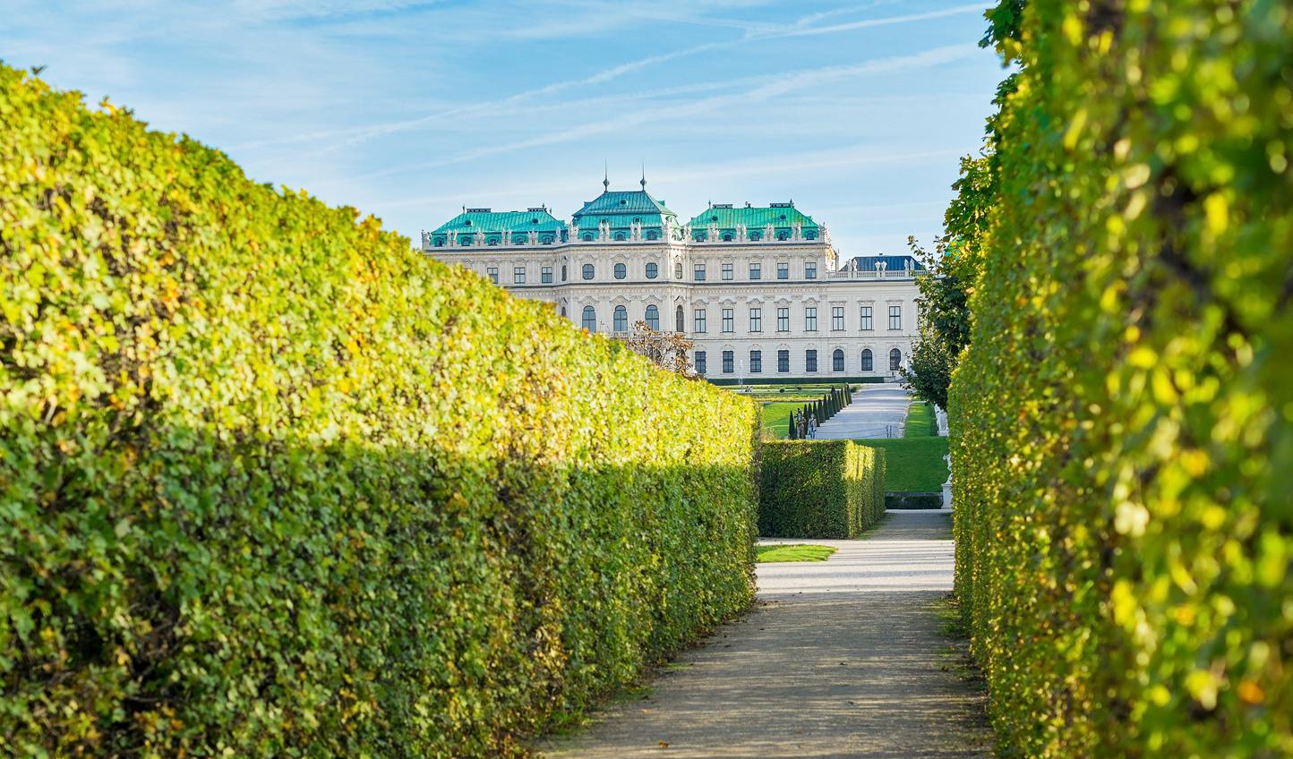 Wander through the manicured gardens of Schloss Belvedere