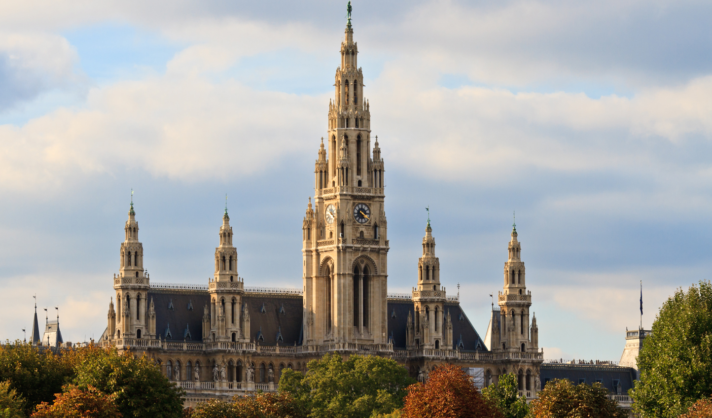 Admire Vienna's stately buildings, such as the Rathaus.