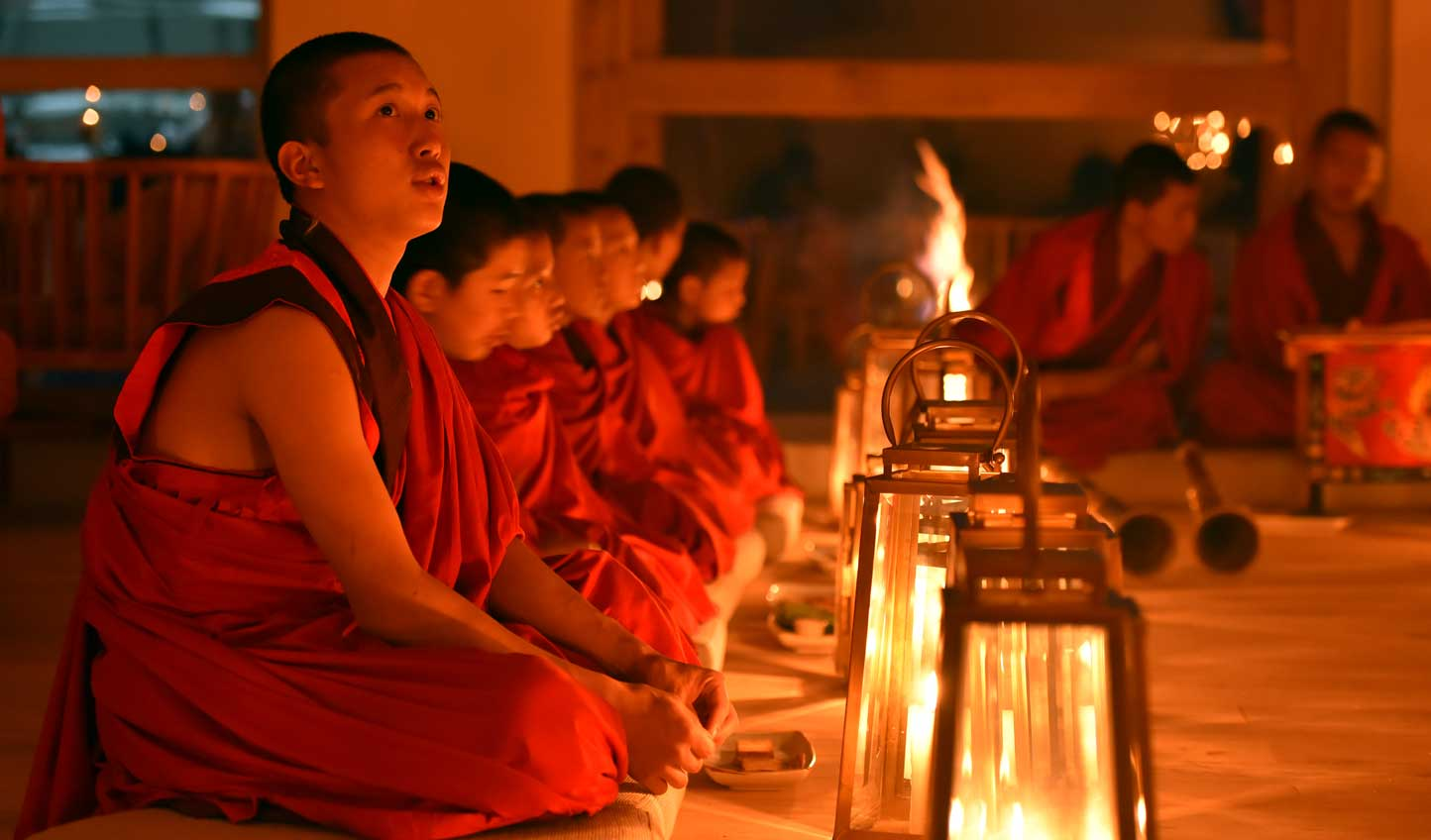 Celebrate festivals and events alongside local monks