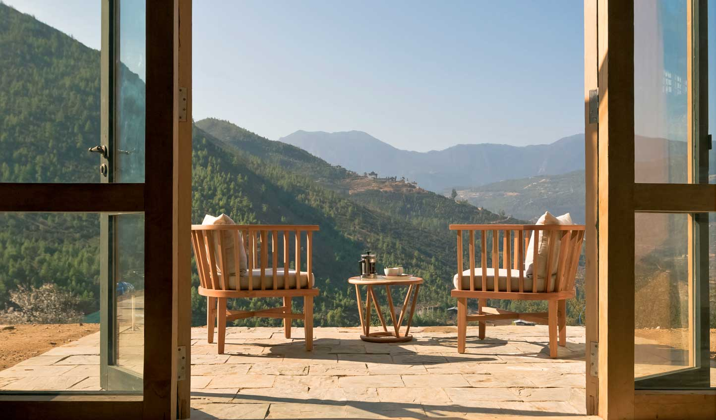 Take tea on your private terrace and soak up the views